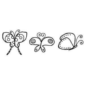 Decorativos - SELLO CAUCHO CUBO MARIPOSAS COREANAS (Últimas Unidades)