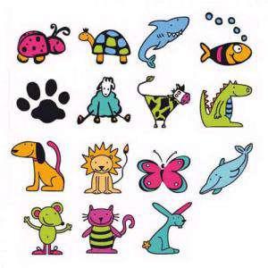 Imagen Kits Infantiles y Bautizo KIT 15 SELLOS DE CAUCHO LILI Y SUS AMIGOS - ULTIMAS UDS (Últimas Unidades)