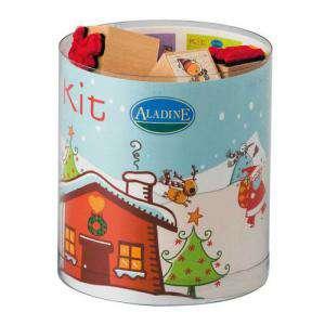 Kits Infantiles y Bautizo - Sellos Navidad. Incluye 15 diseños y 1 tampón negro (Últimas Unidades)