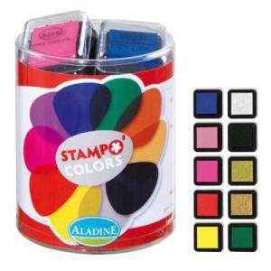 Imagen Tampones de TINTA Tampones color prima. 10 colores. (Últimas Unidades)