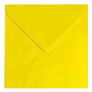 Sobres Cuadrados - Sobre Amarillo Oscuro Cuadrado