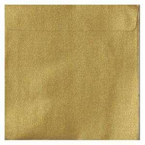 Sobres Cuadrados - Sobre Perlado Oro Cuadrado