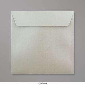 Sobres Cuadrados - Sobre Perlado Plata Cuadrado