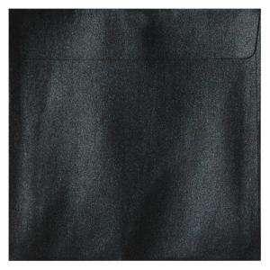 Sobres Cuadrados - Sobre Perlado negro Cuadrado