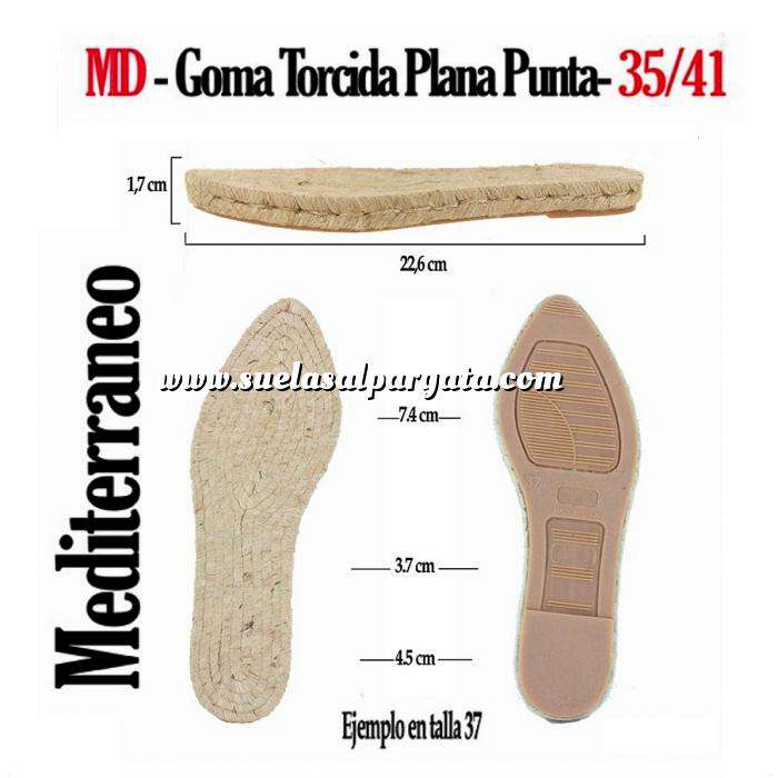 Imagen GP TORCIDA Mod Punta_T35-41 MD Suela Goma Plana Torcida Punta T-40