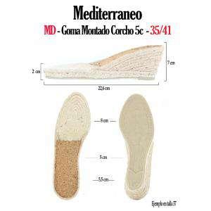 6. Suela Goma Montado - GM_GM TORCIDA Corcho 5Cuerd + 2Cm