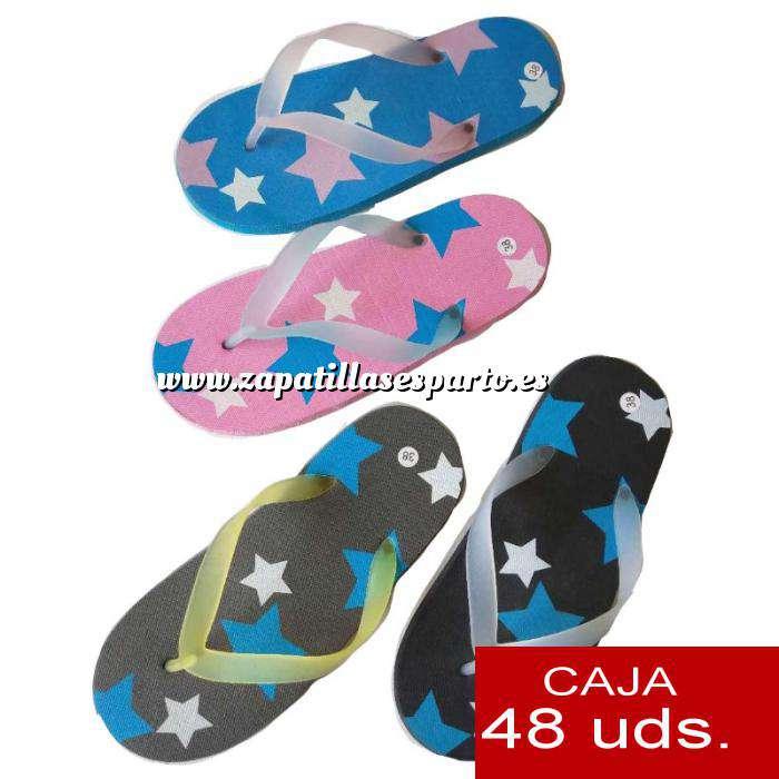 Imagen Sandalias y Chanclas Chanclas estrellas mujer Colores Surtidos - Caja de 48 pares