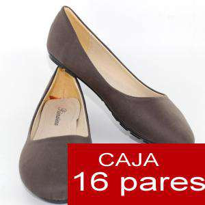 Alta Calidad - Manoletinas Classic MARRÓN OSCURO- Caja 16 pares (Ref. A806 Brown)