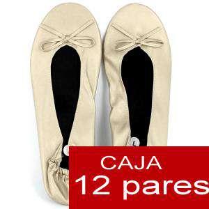 Enrollables/Plegables - Bailarinas Enrollables Modelo ESPECIAL - BEIGE- Lote de 12 pares (OFERTA VERANO)