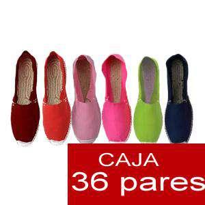 Mujer Cerradas - Alpargatas cerradas Boda Surtidas en colores y tallas - caja de 36 pares