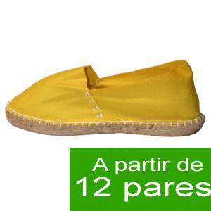 Mujer Cerradas - Alpargatas cerradas MUJER color Amarillo - A partir de 12 pares (Últimas Unidades)
