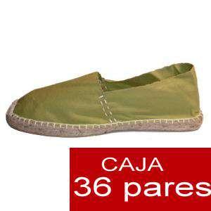 Para Hombres - Alpargatas cerradas HOMBRE color kaki (TIENDA) caja 36 pares (Últimas unidades)