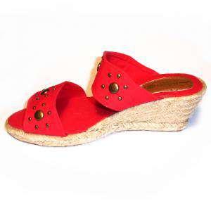Rojo - VALREM Y104511-S Alpargata Remaches Rojo Talla 38