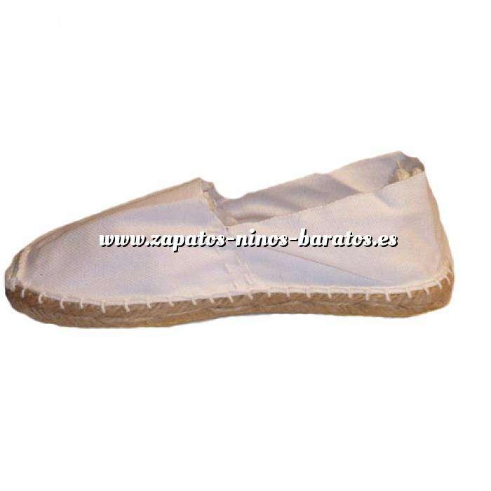 e0294419cd Imagen Blanco CLGOMA Alpargata Clásica Niño Suela Goma Blanco Talla 31