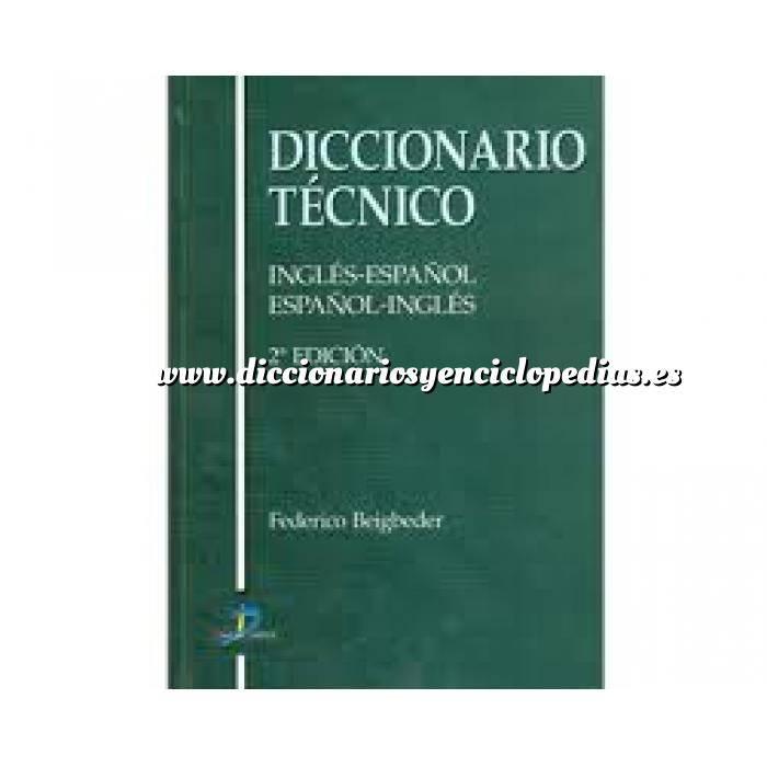 Imagen Diccionarios técnicos Diccionario técnico: inglés-español español-inglés