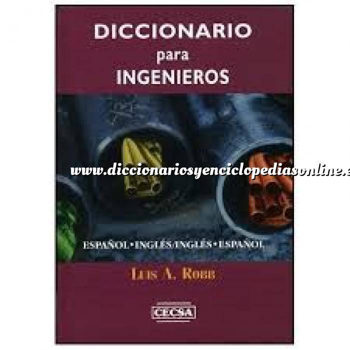 Imagen Diccionarios técnicos Diccionario para ingenieros Español/Ingles v.v