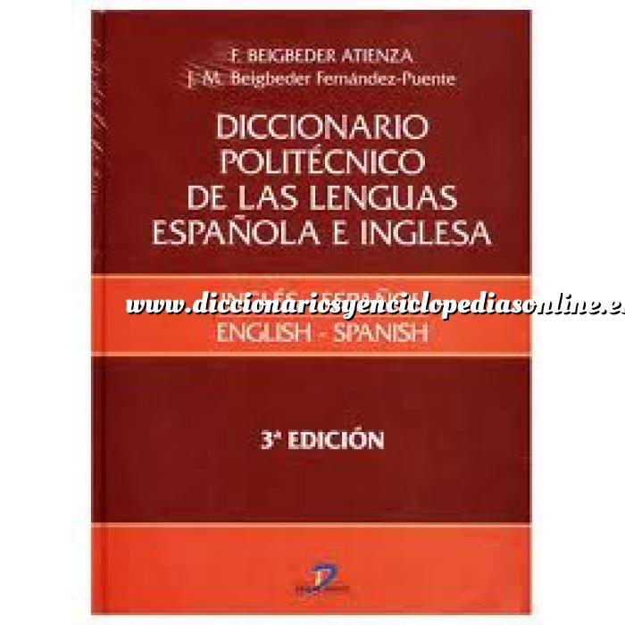 Imagen Diccionarios técnicos Diccionario politécnico de las lenguas española e inglesa: Inglés-español