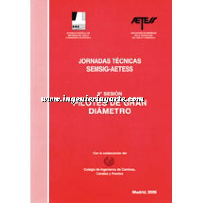 Imagen Cimentaciones Jornadas Técnicas SEMSIG-AETESS. 8ª Sesión: Pilotes de gran diámetro