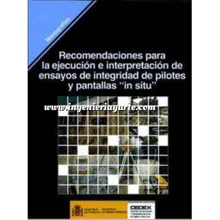 Imagen Cimentaciones Recomendaciones para la ejecución e interpretación de ensayos de integridad de pilotes y pantallas
