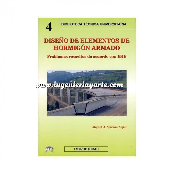 Imagen Estructuras de hormigón Diseño de elementos de hormigón Armado.Problemas Resueltos de acuerdo con la EHE