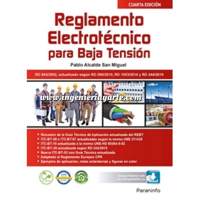 Imagen Instalaciones eléctricas de baja tensión Reglamento electrotécnico para Baja Tensión Edición 2019