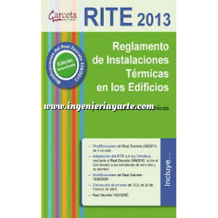 Imagen Normativa instalaciones RITE 2013. Reglamento de Instalaciones Térmicas