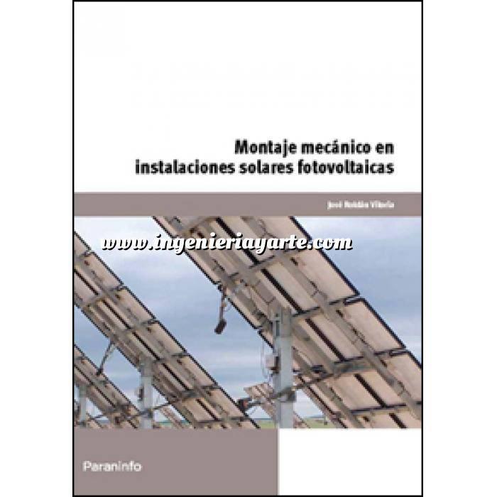 Imagen Solar fotovoltaica Montaje mecánico en instalaciones solares fotovoltaicas