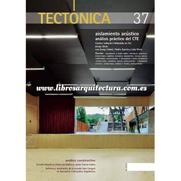 Imagen Tectónica Revista Tectónica Nº 37. Aislamiento acústico