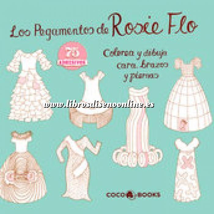 Imagen Moda Los pegamentos de Rosie Flo. Colorea y dibuja caras, brazos y piernas