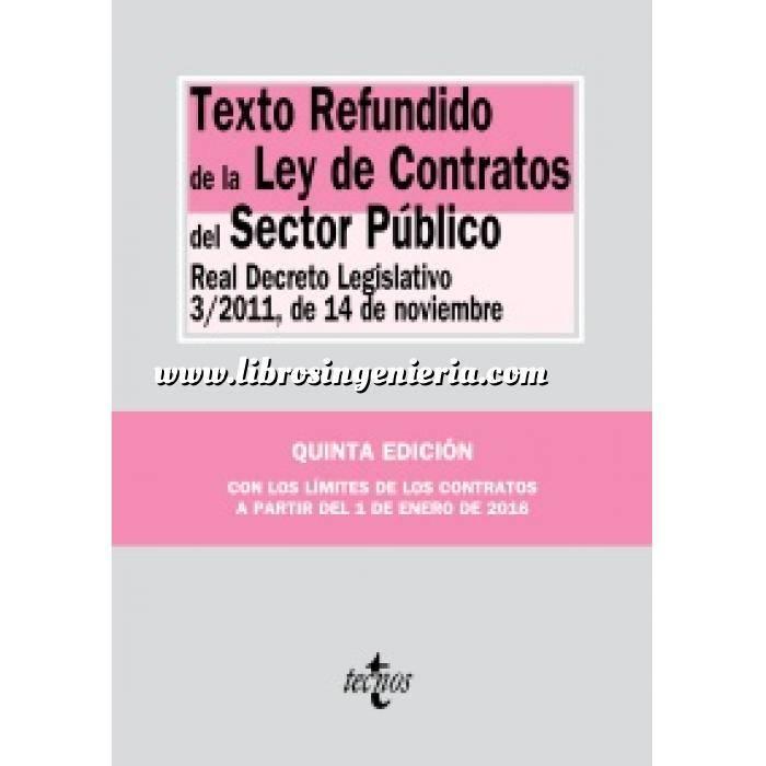Imagen Derecho de la construcción y legislación Texto Refundido de la Ley de Contratos del Sector Público Real Decreto Legislativo 3/2011, de 14 de noviembre