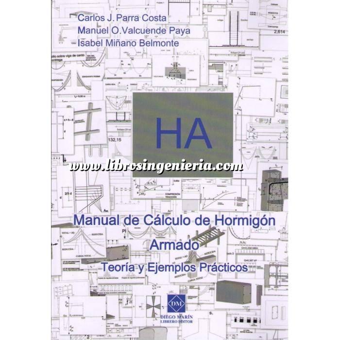 Imagen Estructuras de hormigón HA.Manual de cálculo de hormigón armado.Teoría y ejemplos prácticos