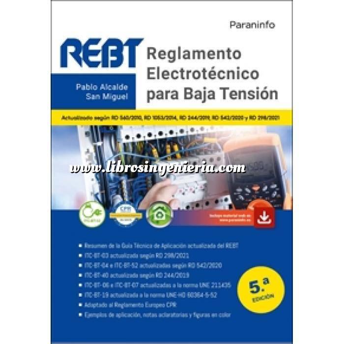 Imagen Instalaciones eléctricas de baja tensión Reglamento electrotécnico para Baja Tensión 5.ª edición 2021