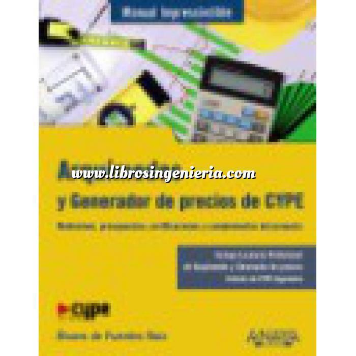 Imagen Mediciones, presupuestación y cuadros de precios Arquímedes y Generador de precios CYPE. Mediciones, Presupuestos, Certificaciones y Complementos del Proyecto