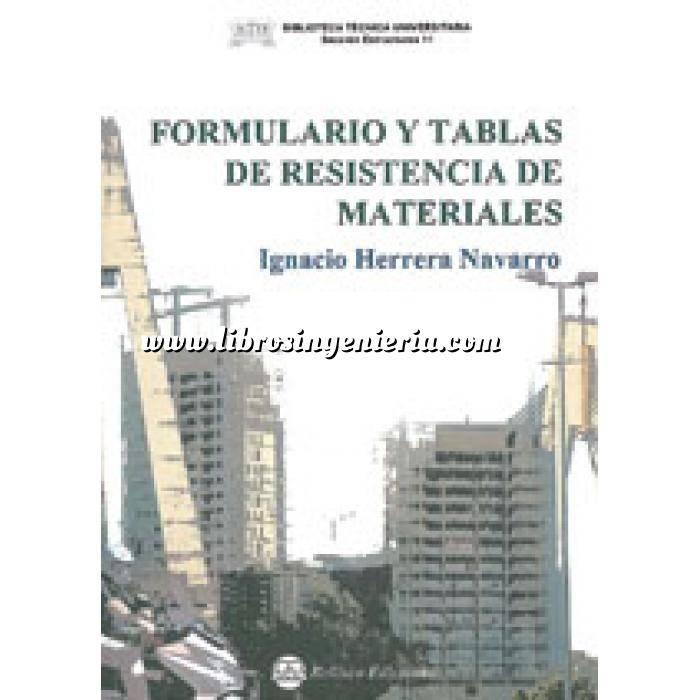 Imagen Resistencia de materiales Formulario y tablas de resistencia de materiales
