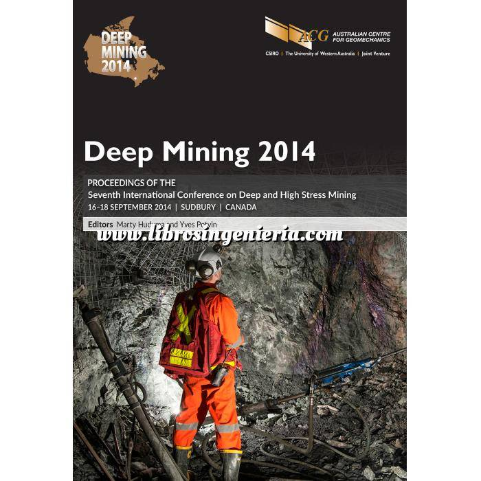 Imagen Túneles y obras subterráneas Deep Mining 2014.Proceedings of the Seventh International Seminar on Deep and High Stress Mining