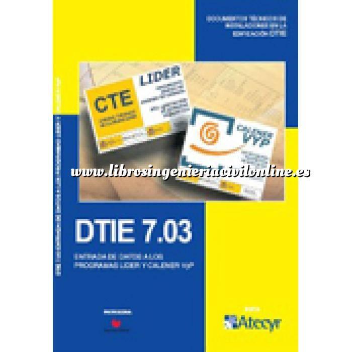 Imagen Certificación y Eficiencia energética DTIE 7.03 Entrada de datos a los programas Lider y Calener VYP