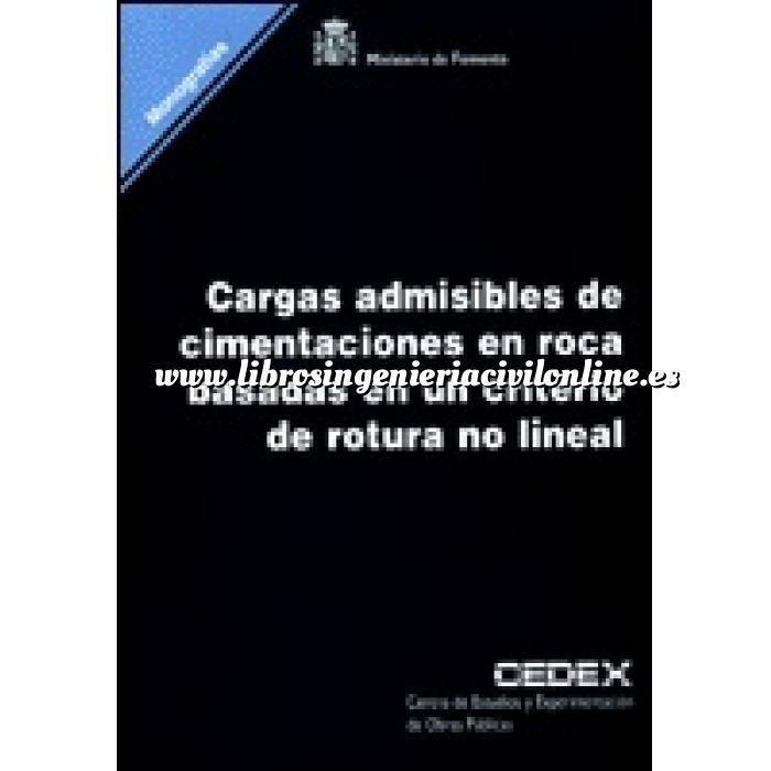 Imagen Cimentaciones Cargas admisibles de cimentaciones en roca basadas en un criterio de rotura no lineal