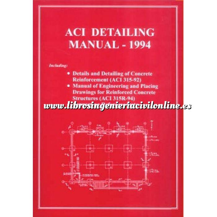 Imagen Estructuras de hormigón ACI detailing manual-1994.details and detailing of concrete reinforcement