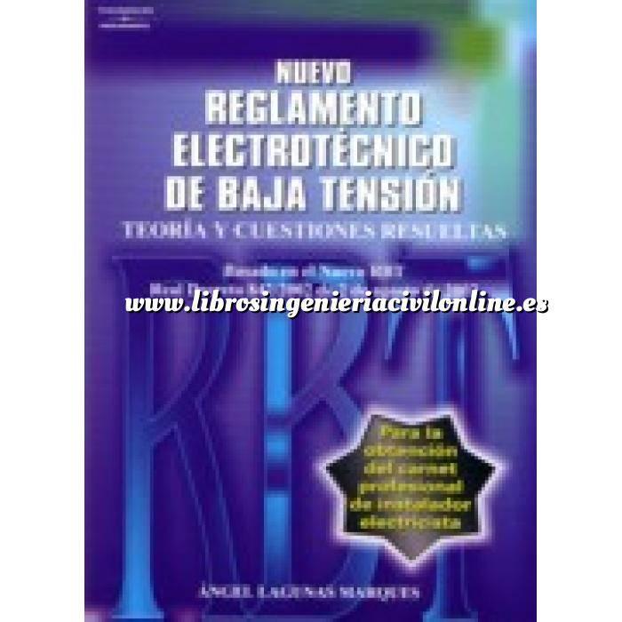 Imagen Instalaciones eléctricas de baja tensión Reglamento electrotécnico de baja tensión. Teoría y cuestiones resueltas