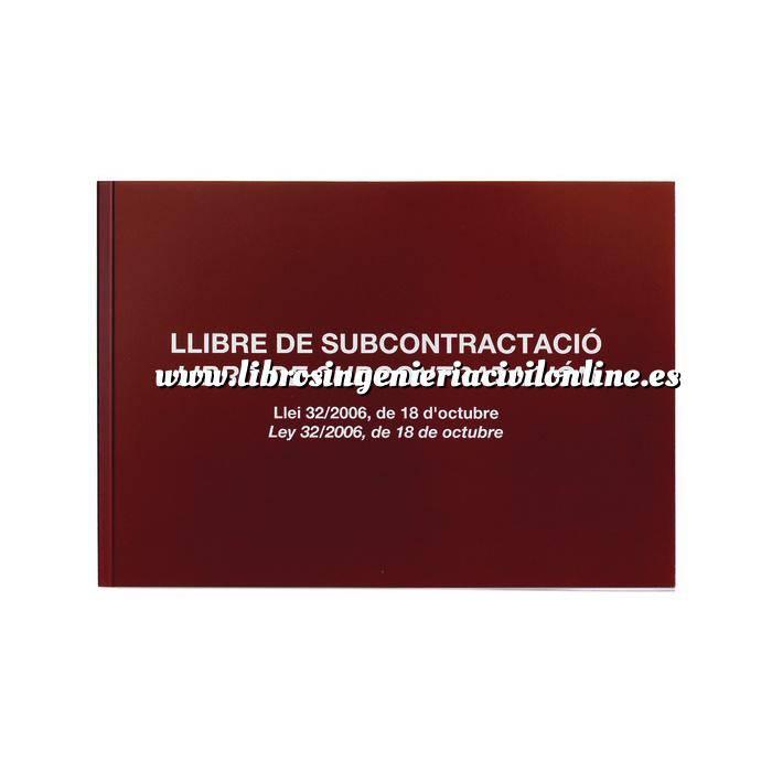 Imagen Mediciones, presupuestación y cuadros de precios Libro de Subcontratacion.Juego de 10 hojas Autocopiativas