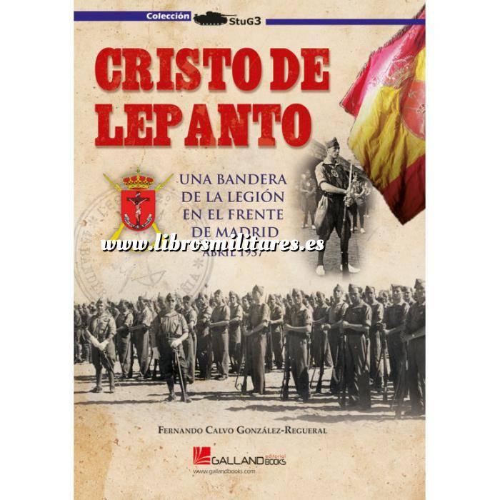 Imagen Guerra civil española Cristo de Lepanto. Una bandera de la Legión en el frente de Madrid.