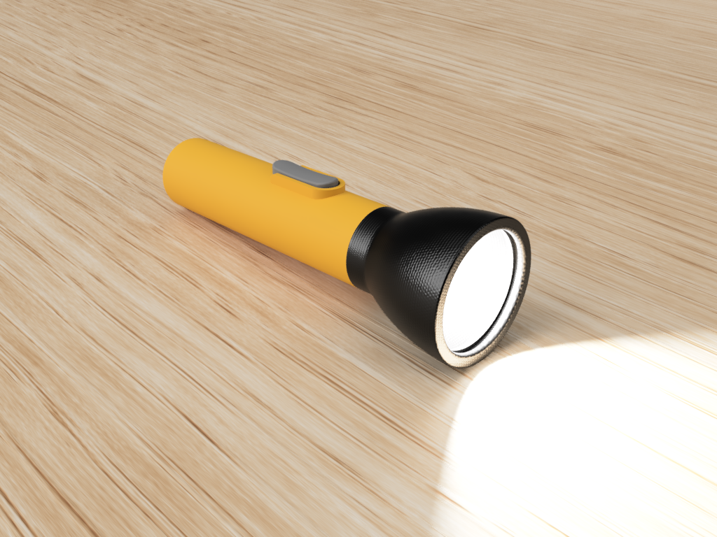 Rendering of a flashlight