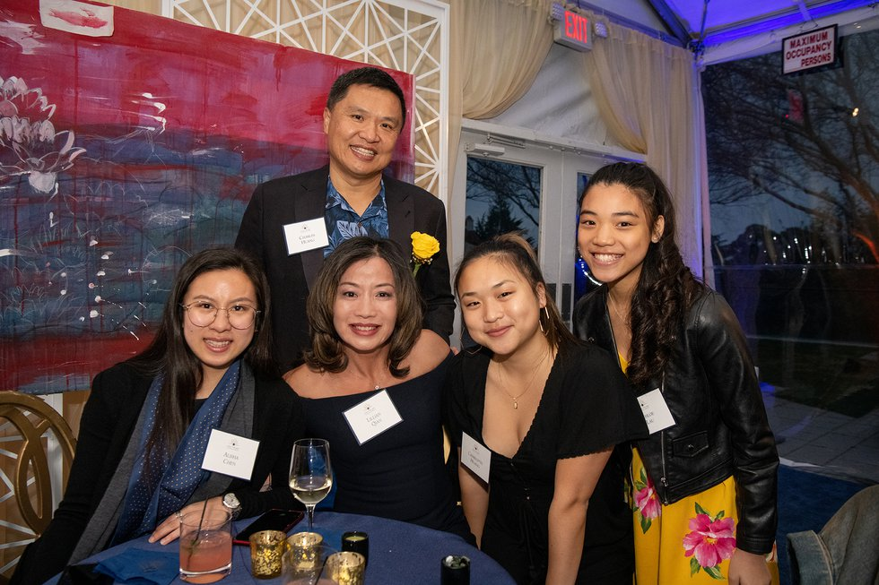 Photo of UC Berkeley Foundation Trustee Charles Huang with family and friends