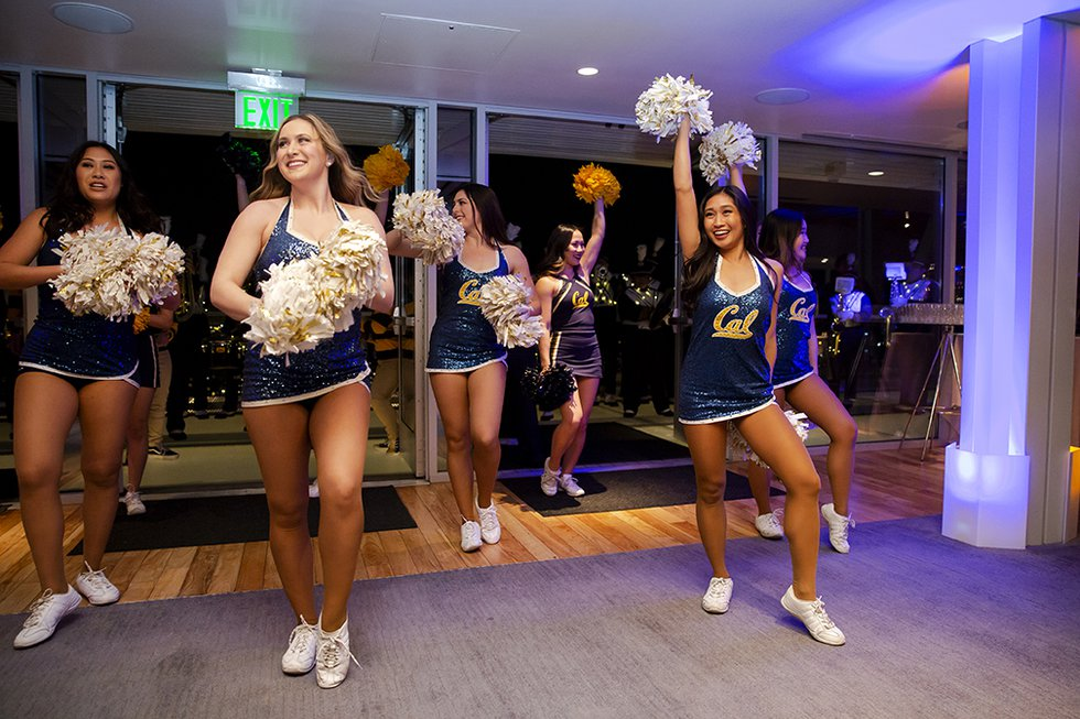 Photo of the Cal Dance Team entering.