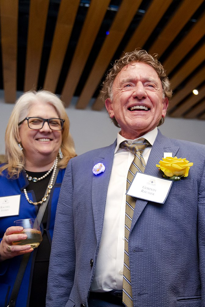 Photo of Rachel Stern and Gordon Rausser smiling