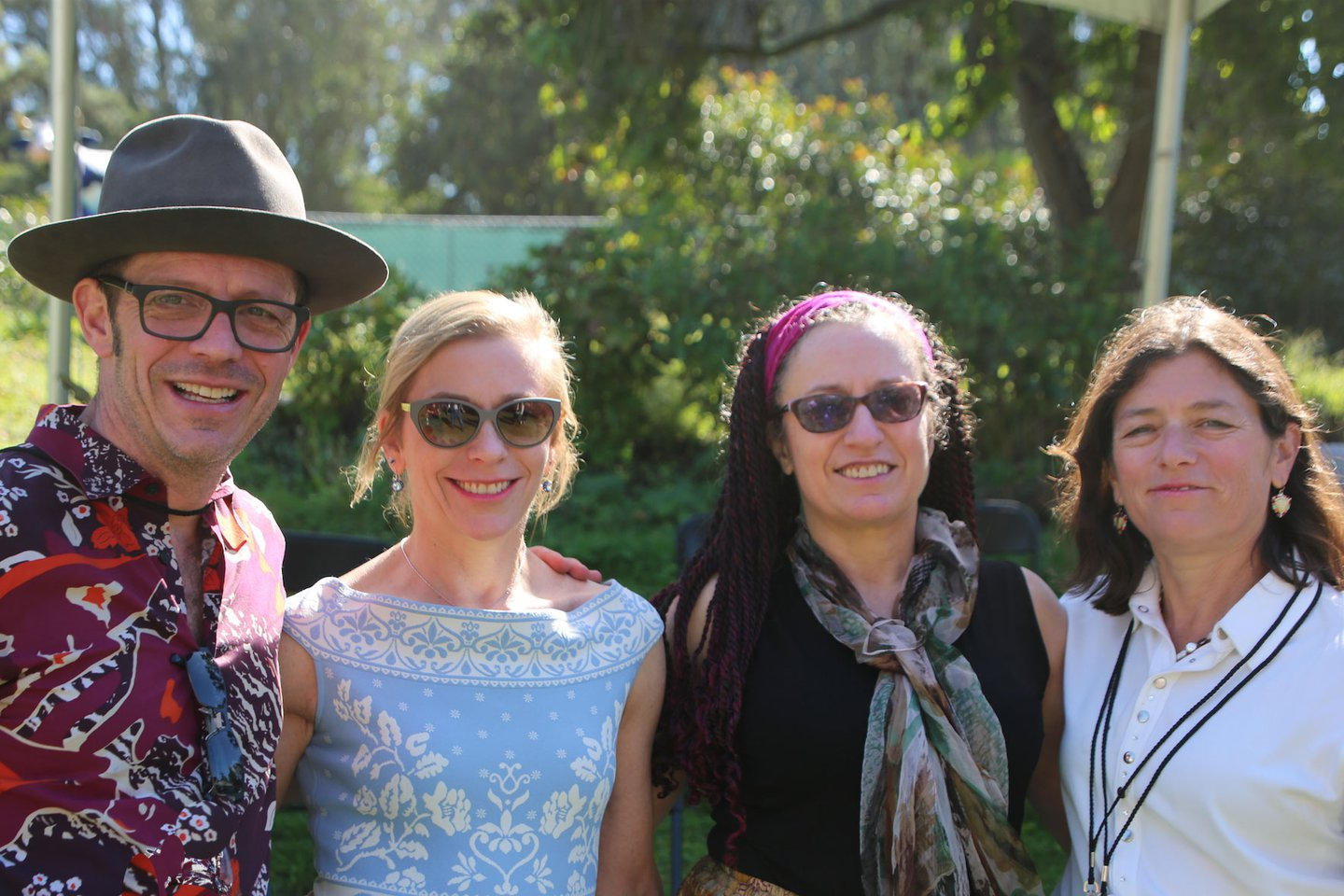 Photo of the Hellman siblings (Marco '83, Judith '84, Frances, and Patricia Hellman Gibbs), by Michael Riley