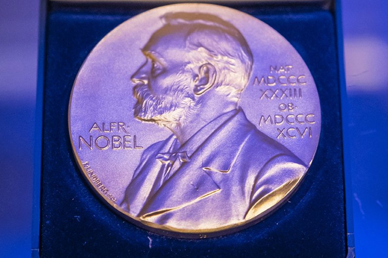 photograph of a Nobel prize