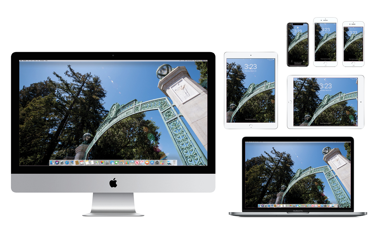 Wallpaper with angled view of Sather Gate