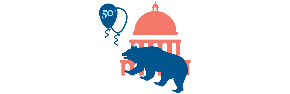 Illustration of a bear and balloon superimposed over the U.S. Capitol.