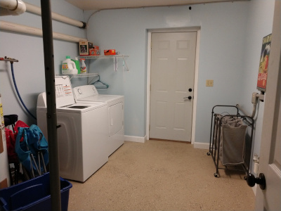 Private laundry room, washer and dryer
